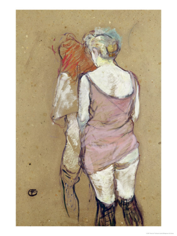 Toulouse Lautrec, maison close, two ladies