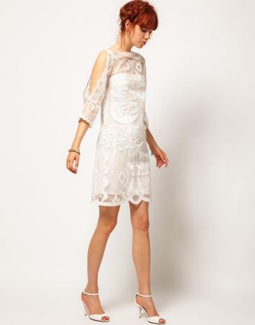 Vintage Whites, Asos, White lace dress