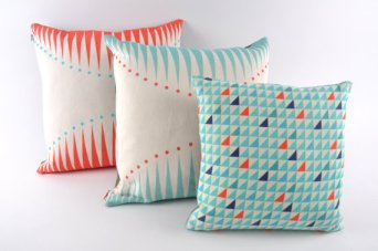 Butterscotch and Beesting cushions
