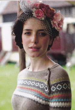 Country Living, Country cool, fairisle jumper, rose fascinator