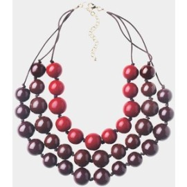 Toast, three string statement necklace