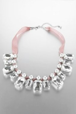 statement necklace, multi faceted stone bib necklace, Marks and Spencer