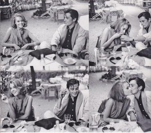 Jane Fonda, Alain Delon, Cannes, 1960's, Edward Quinn