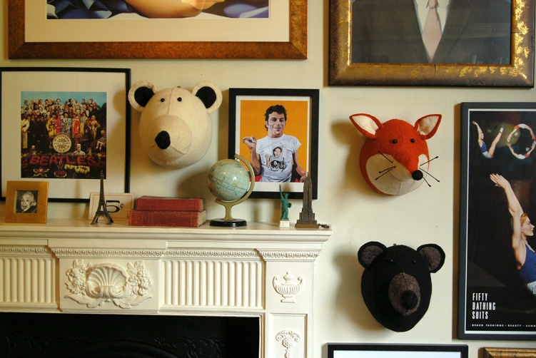 Animal heads for animal lovers, taxidermy, bloomsbury store, graham and green