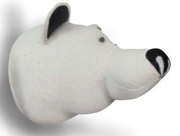 polar bear, taxidermy, felt head, bloomsbury store
