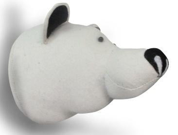 polar bear, taxidermy, felt head, bloomsbury store
