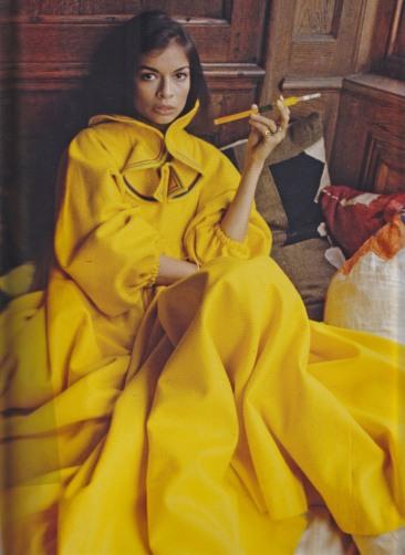 Decades by Cameron Silver, Bianca Jagger, yellow kaftan, Zandra Rhodes