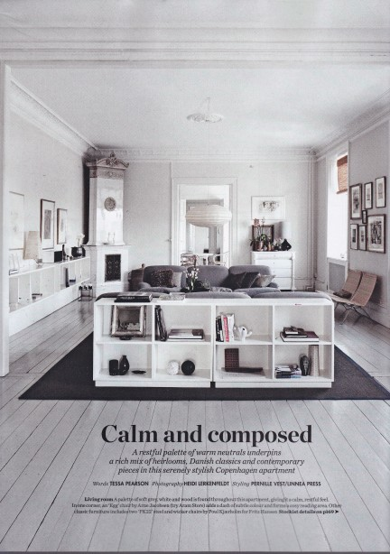 Suzanne Rutzou, winter whites, Elle Decoration