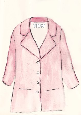 Toast Spring Collection, Gena Coat, Fashion Illustration