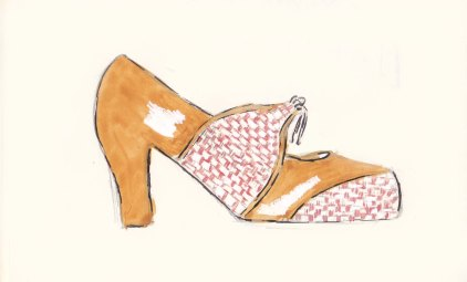 Toast Spring Collection, Fashion Illustration, Olivia Heels