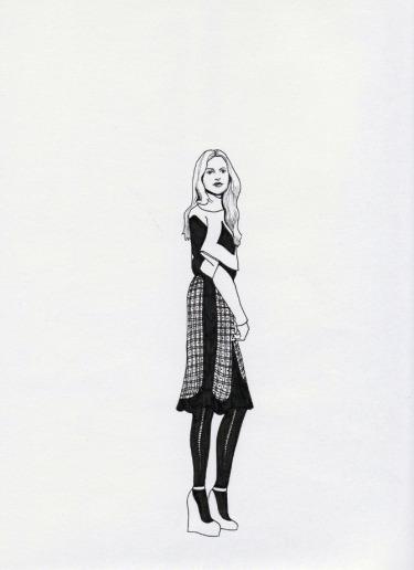 Daphne van den heuvel, fashion illustration
