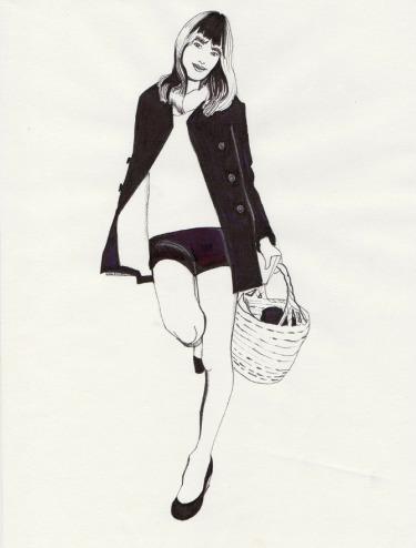 Daphne van den heuvel, fashion illustration, Jane Birkin