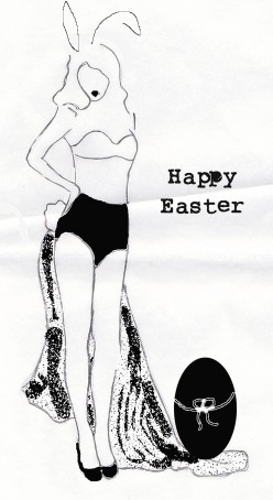 Easter Bunny girl, pin up