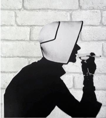 Irving Penn, white brick wallpaper, Koziel, Rockett st George