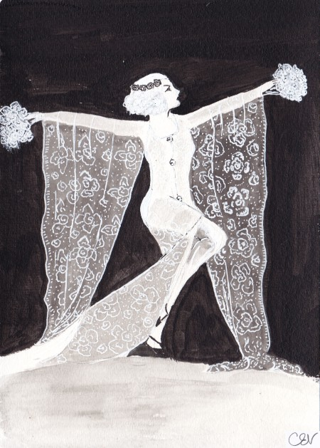 Ziegfeld Follies illustration, Carolyn Everitt, True Blood