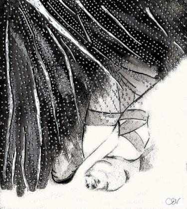 Ballet illustration, Carolyn Everitt, Pointe Shoes & Tulle