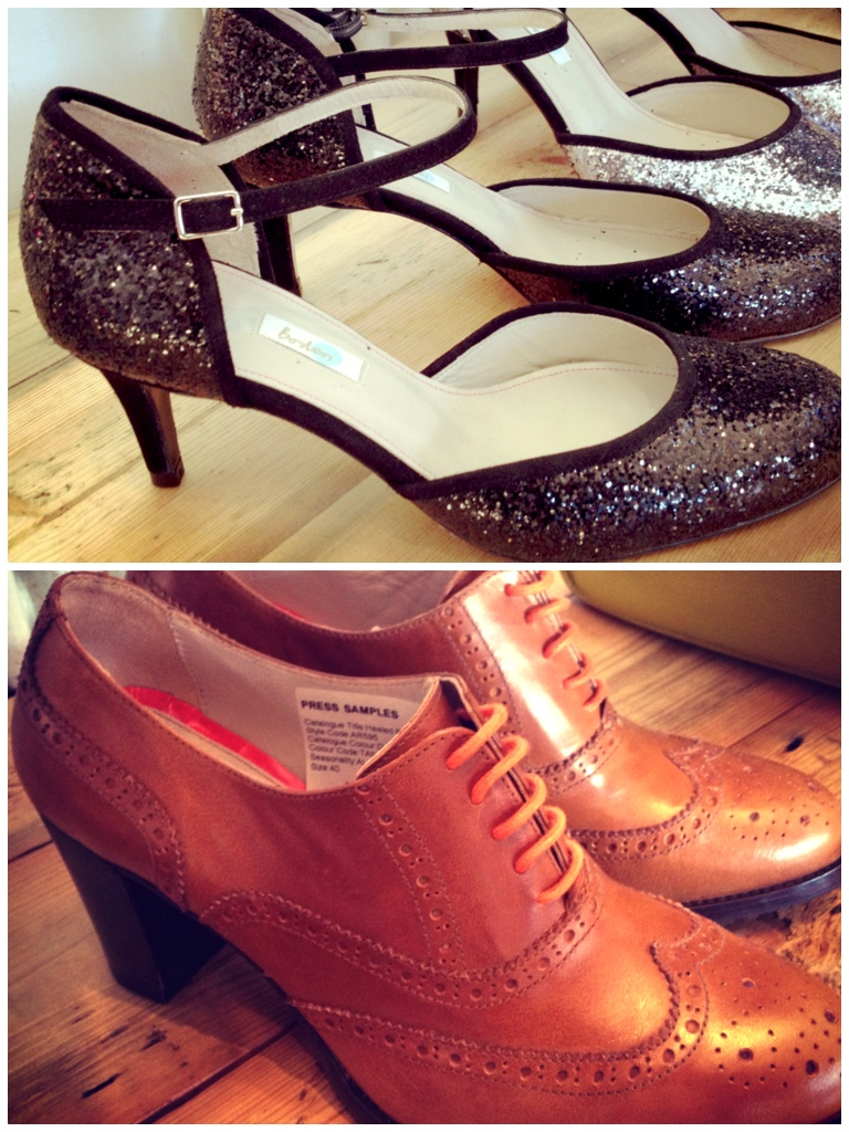 Boden Autumn Winter 2013, Glitter shoes, heeled brogues