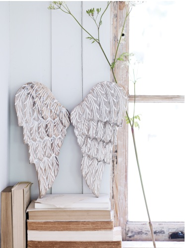 Cox and Cox carved angel wings