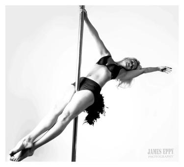 Plank position from sitting, pole dancing, Carolyn Everitt