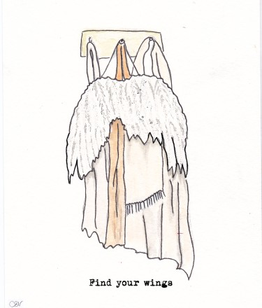 Find your wings, greeting card design