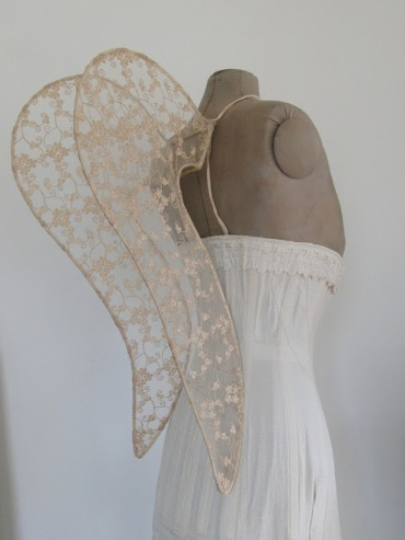 Gold sequin fairy wings, angel