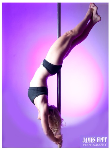 hangback with extended arch, pole dancing, Carolyn Everitt
