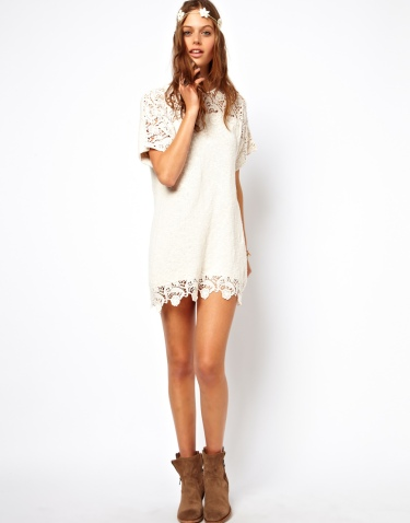 Asos lace dress, festival chic