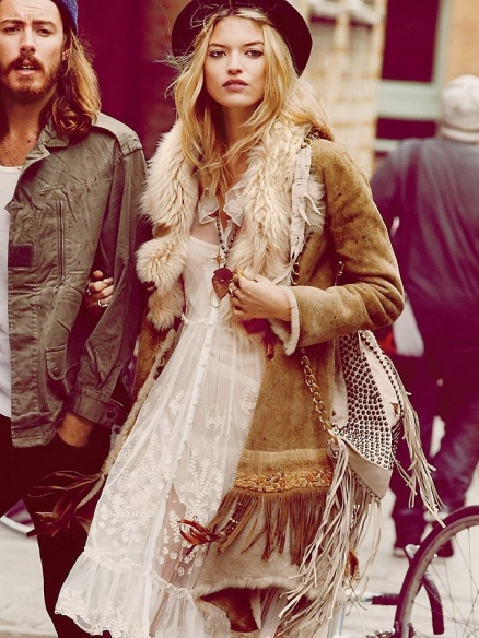 Afghan coat, hippie style, boho style