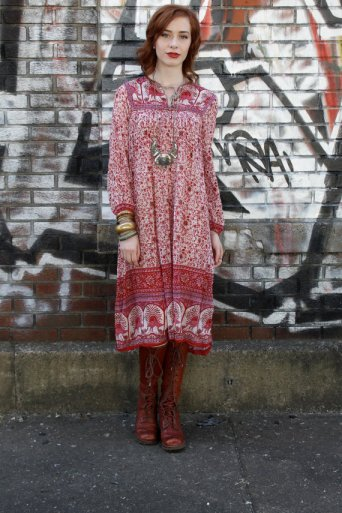 indian print hippie dress, Etsy hippie dress