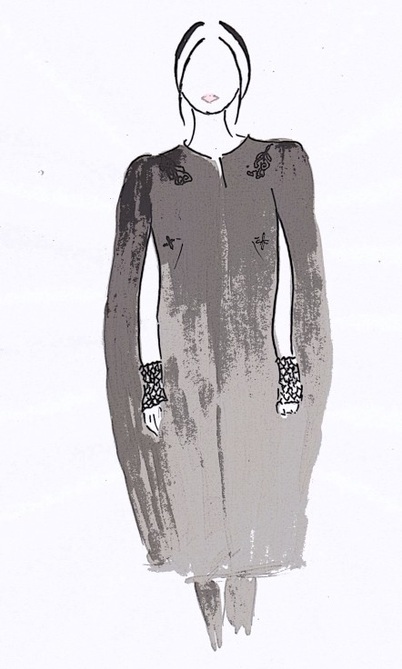 Ulyana Sergeenko AW13 couture, fashion illustration, Carolyn Everitt