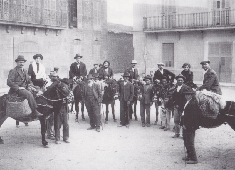 Turistes a Pollenca, 1914