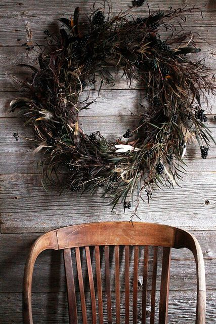 feathered wreath