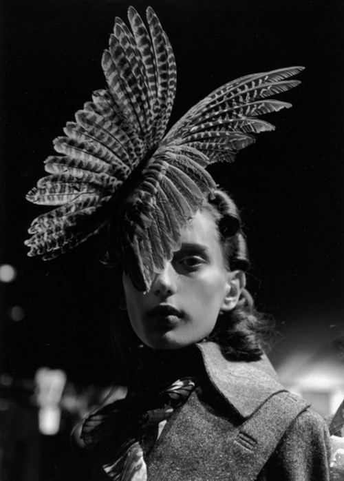 Feather vintage hat