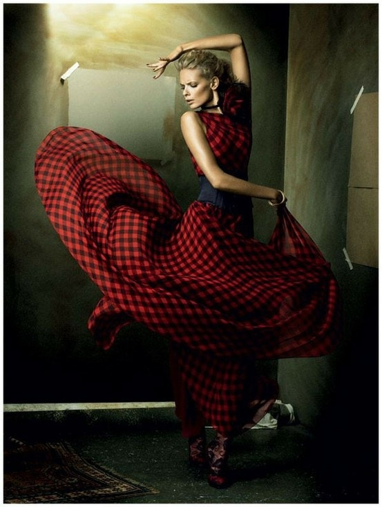 Julia Stegner, Flamenco, Vogue Germany December 2008