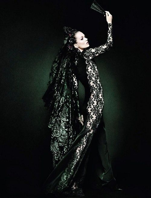 Kate Moss, Flamenco, Vogue Espana 2012