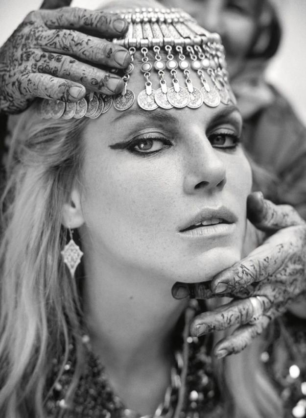 Angela Lindvall, Talitha Getty, Porter Magazine