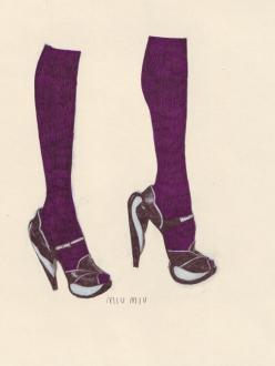 Anna Higgie, Miu Miu shoes