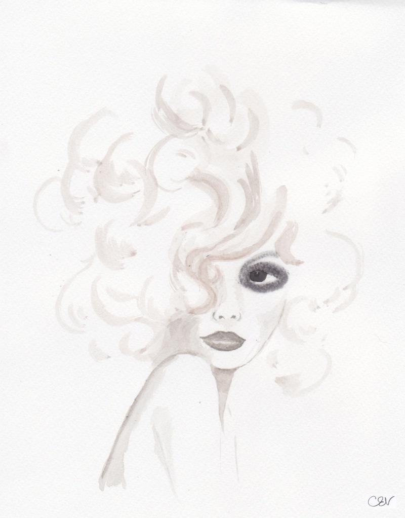 Carolyn Everitt, Illustration, Bette Davis Eyes