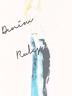 Carolyn Everitt, fashion illustration, denim rules