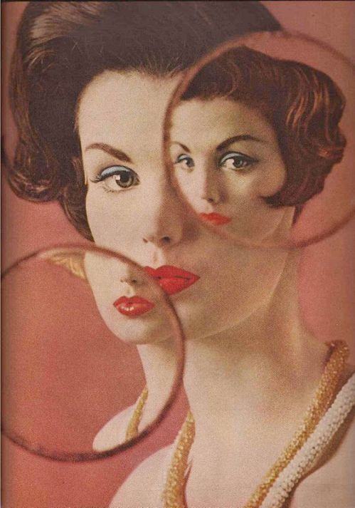 Vogue 1960, mirror, reflection