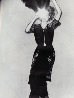October 1974 Vogue, sequinned peasant dresses