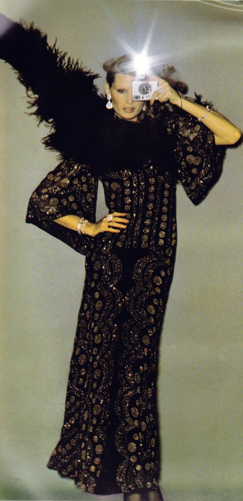 October 1974 Vogue, sequinned peasant dresses